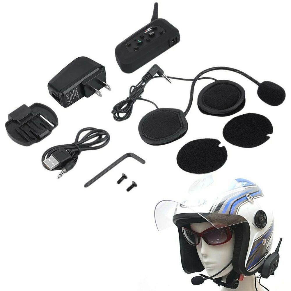 V6 1200m Interphone BT Motorbike Motorcycle Helmet Bluetooth Intercom Headset