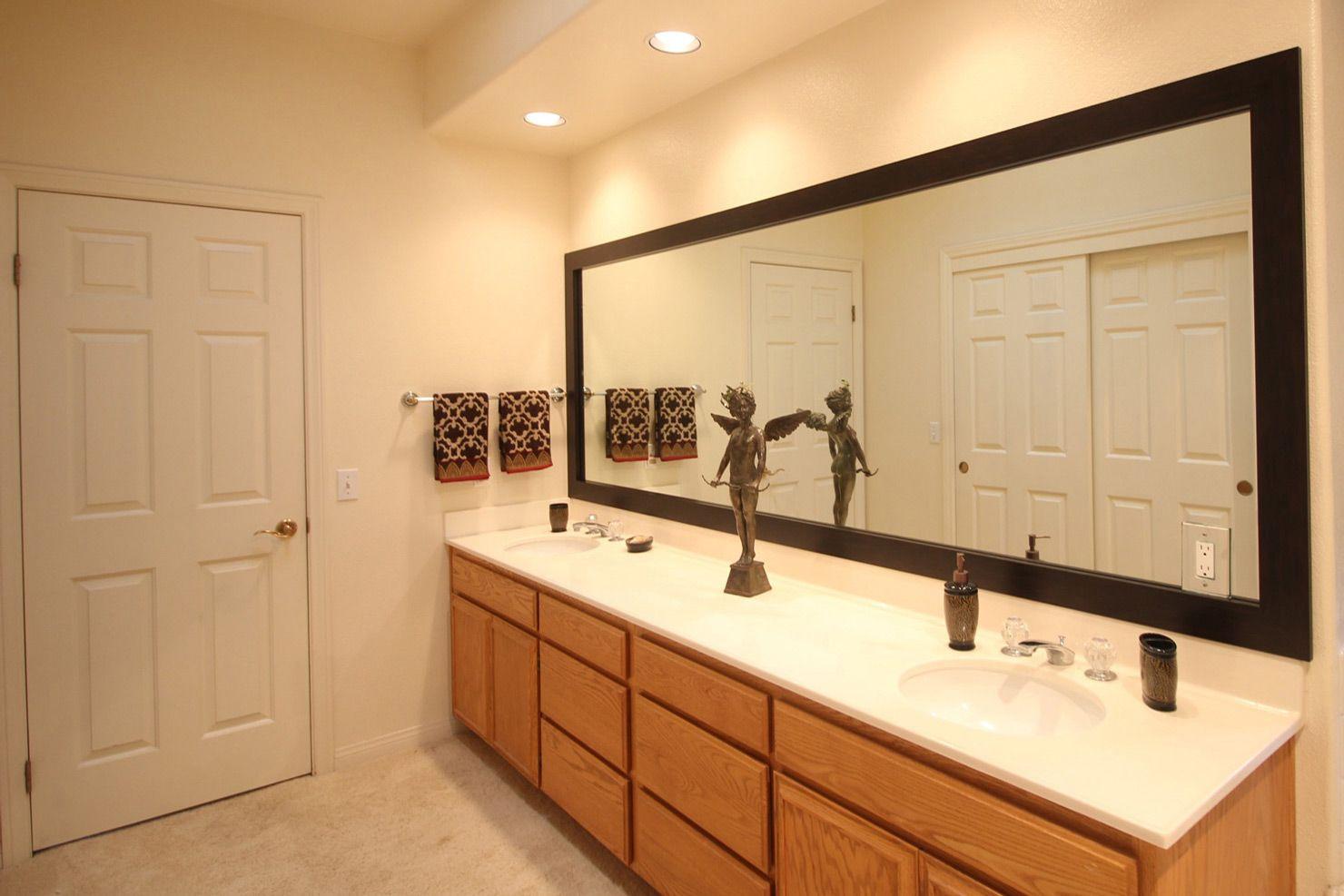 Large bathroom mirror home interior design ideas in 2020