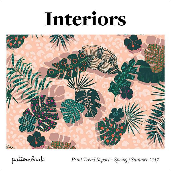 foto de Interiors Print & Pattern Trend Report Spring/Summer 2017 Print patterns Background colour