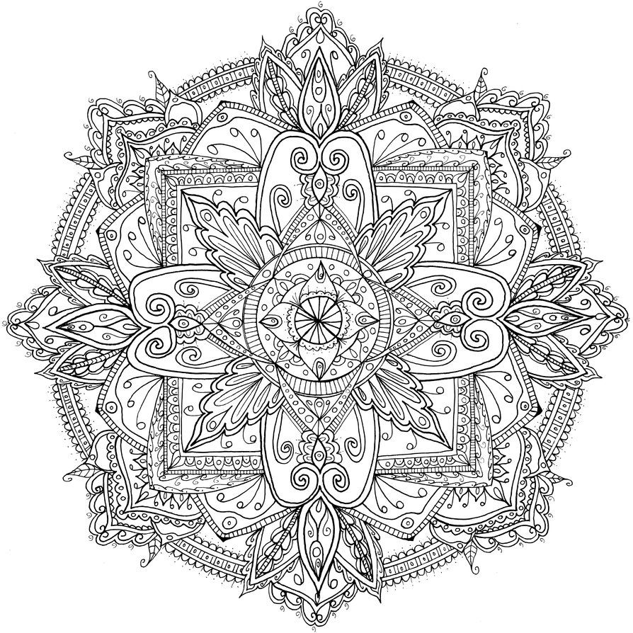 friday mandala by welshpixie on deviantart adult coloring pagescoloring bookmandala - Fractal Coloring Book