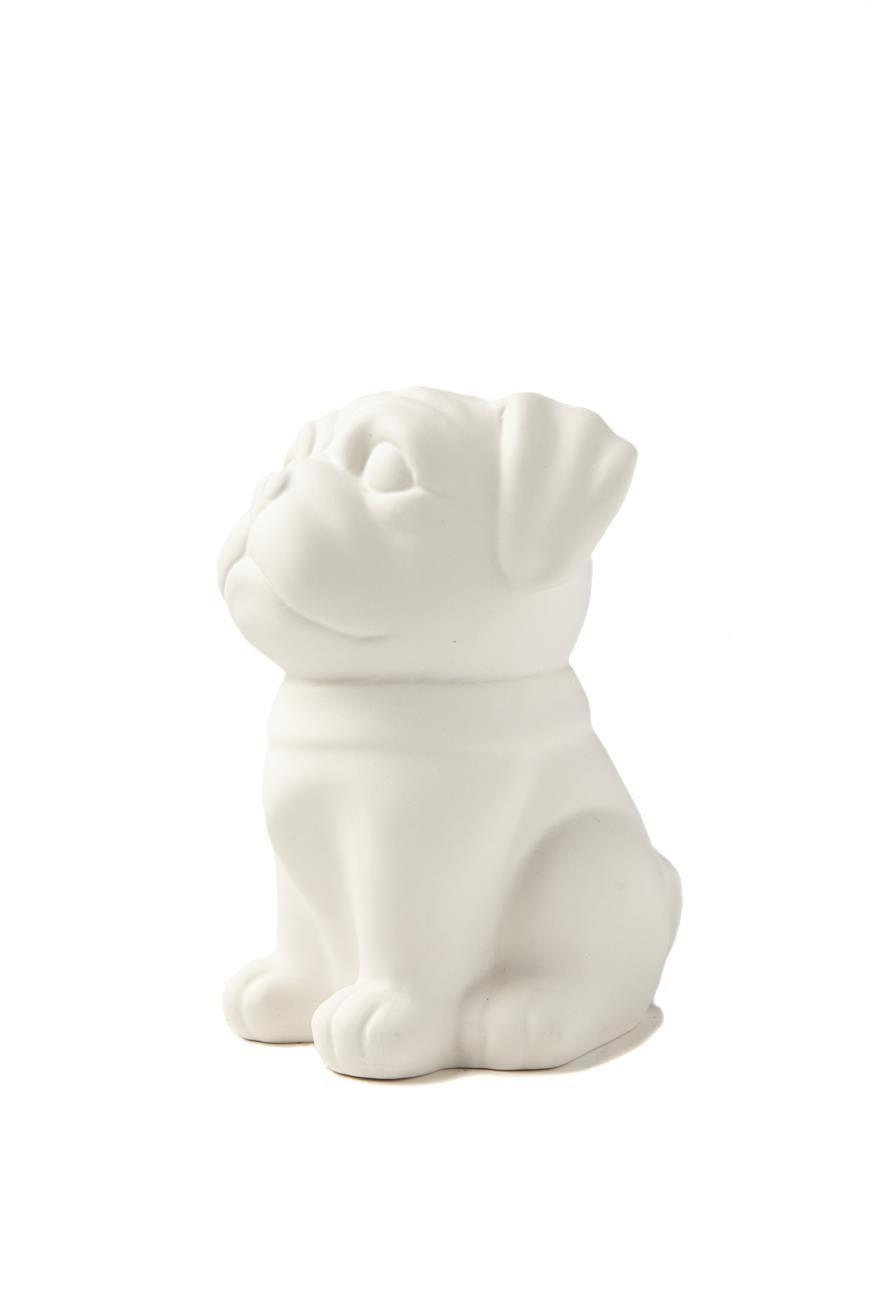 porcelain lamp, PUG