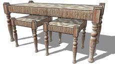 Mô hình 3D của ENS 3 ASSISES Tiếng Hin-ddi, Maisons du monde.  Réf: 138.045 Prix: 159,90 €