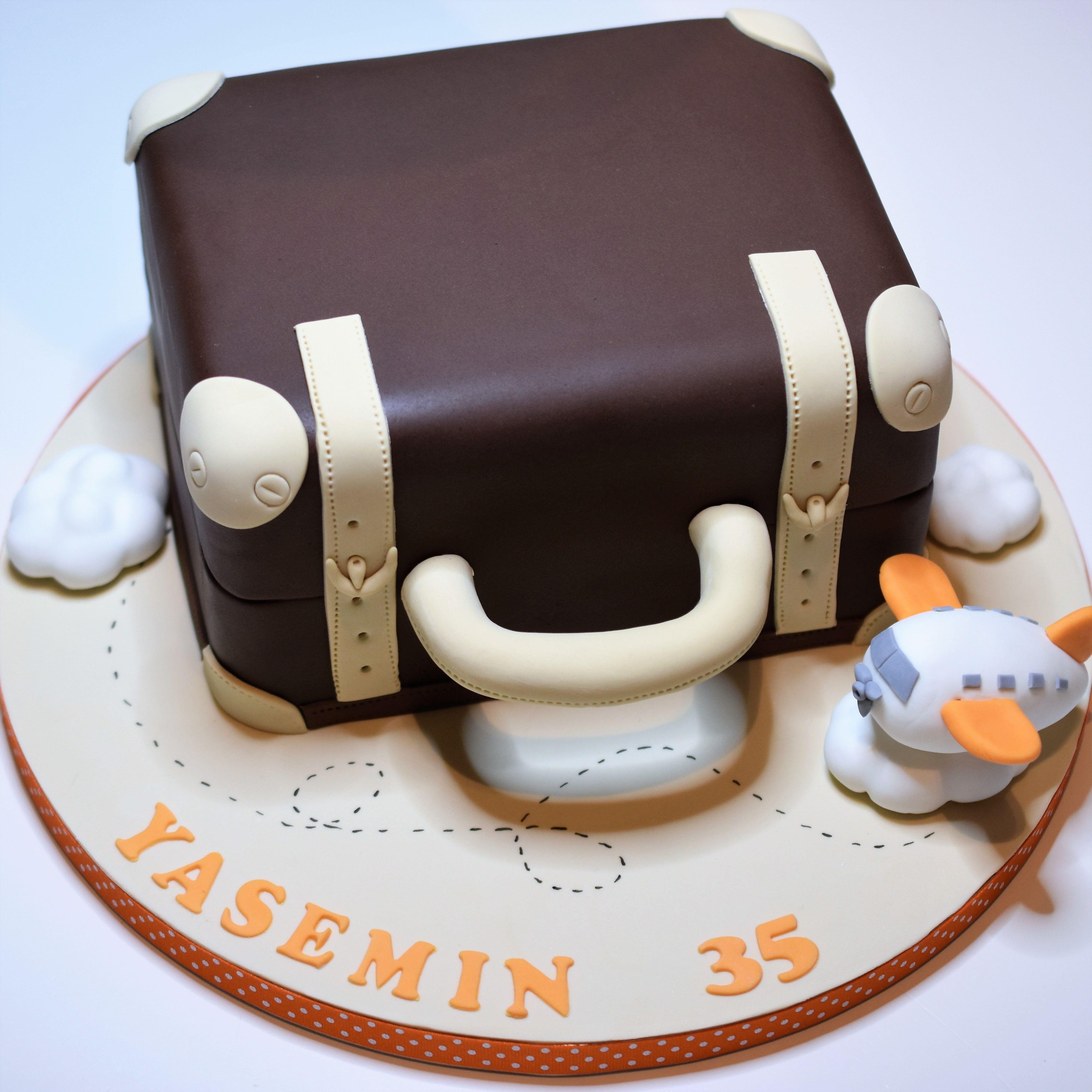 Suitcase Birthday Cake Pinterest Cake Birthday Cakes