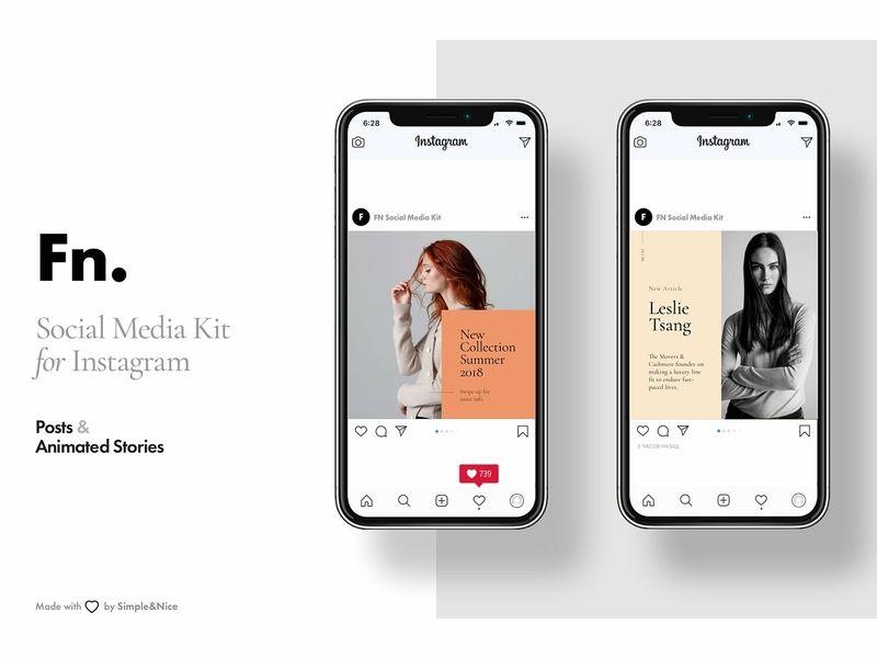 Fn Social Media Kit For Instagram Media Kit Social Media Mockup Social Media