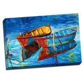 Found it at Wayfair - Boat 2 Boats Colorful Painting Print on Wrapped Canvas