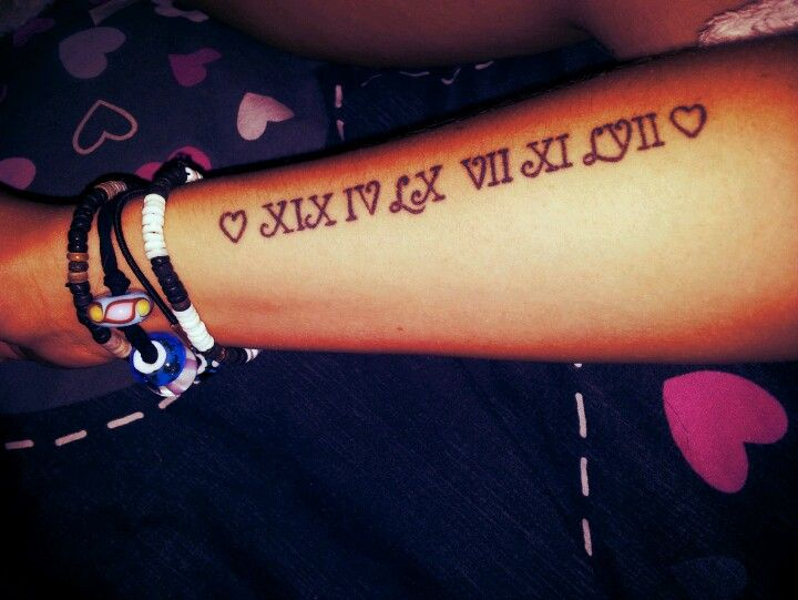 Roman Numeral Tattoos Font: Roman Numeral Tattoo.... Minus Hearts