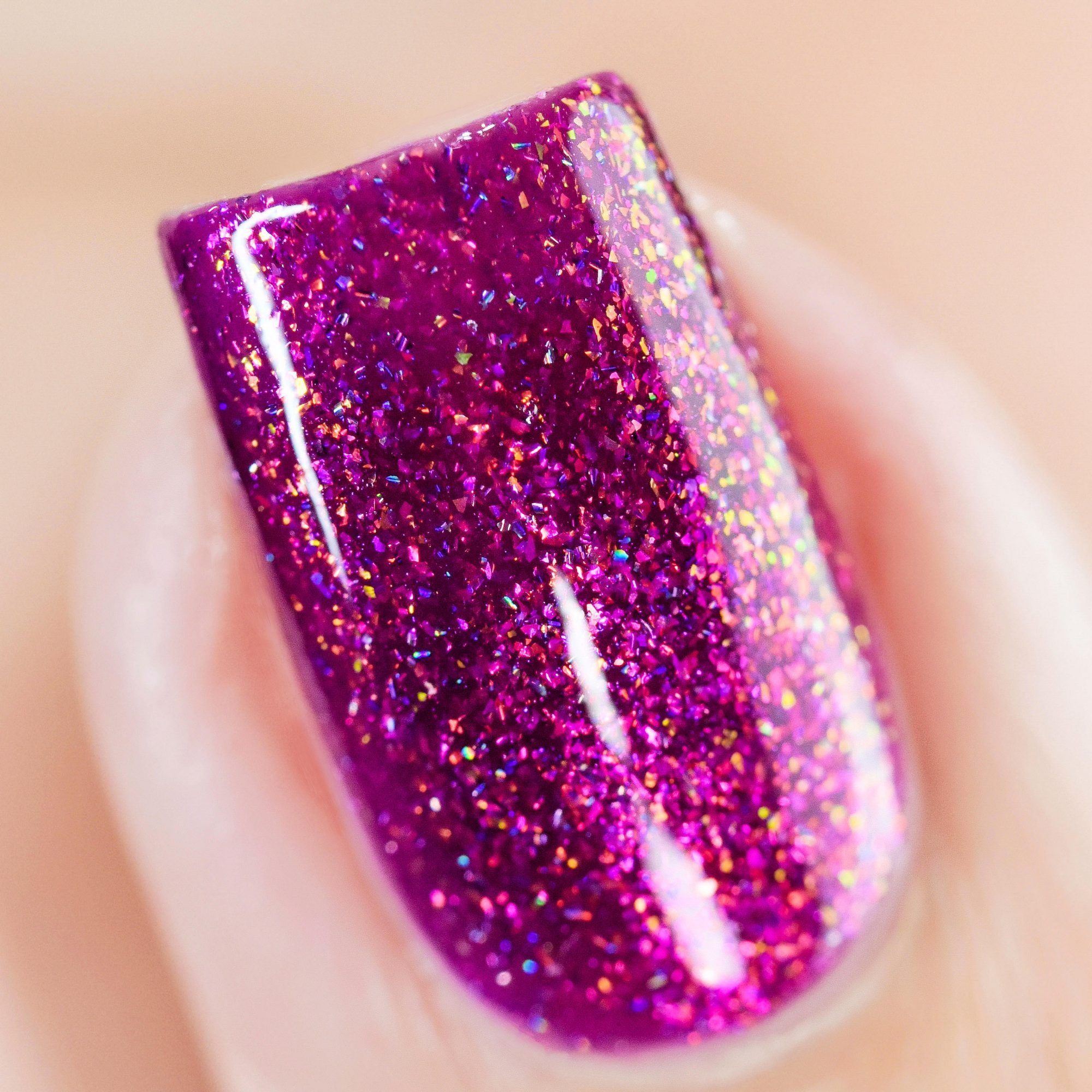 Rush Hour - Vivid Berry Holographic Nail Polish by