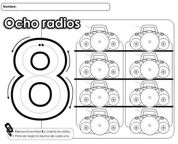 Numero 13 Para Colorear: Numbers, Math Y Teaching