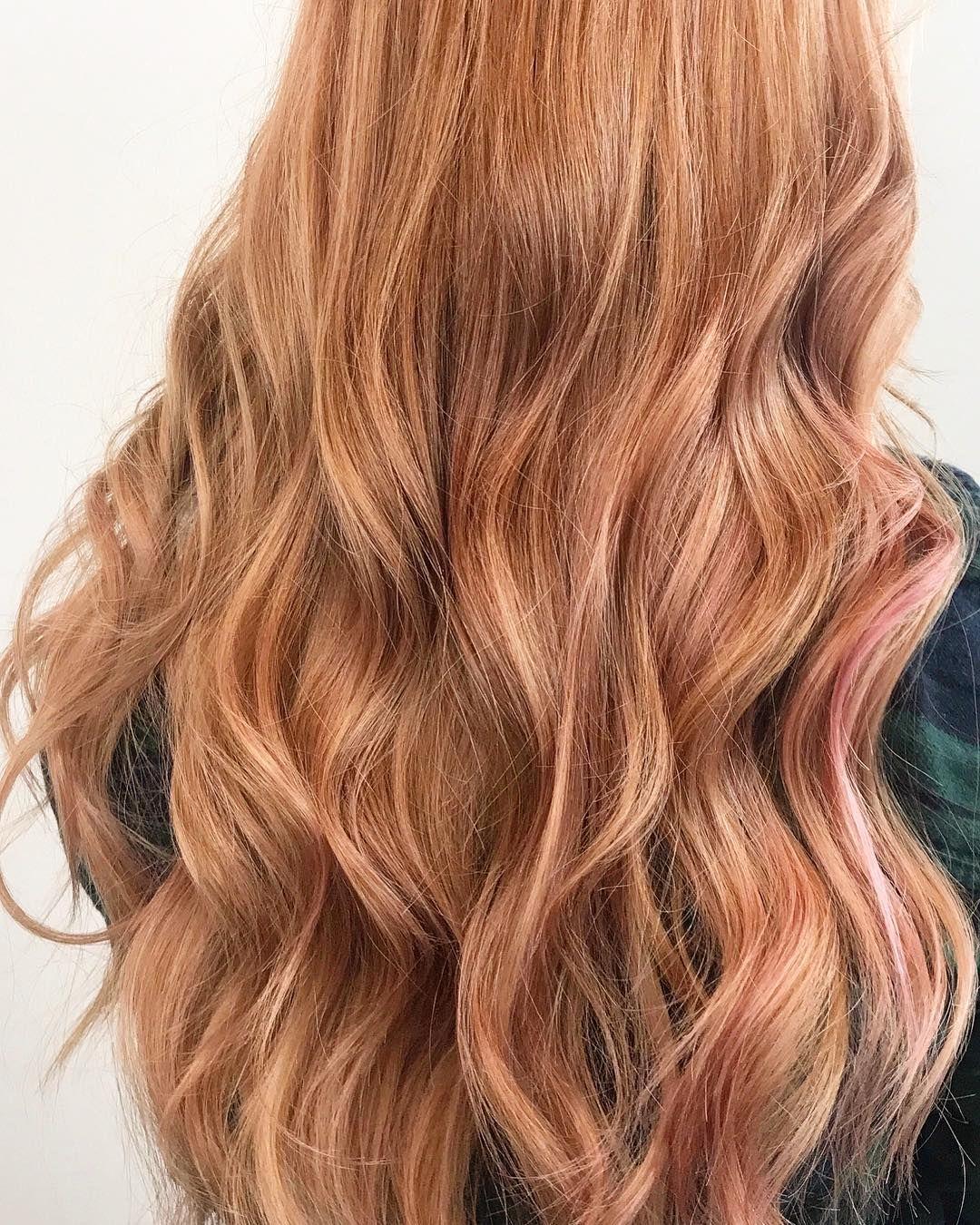 Copper Peach Hair #softcurls