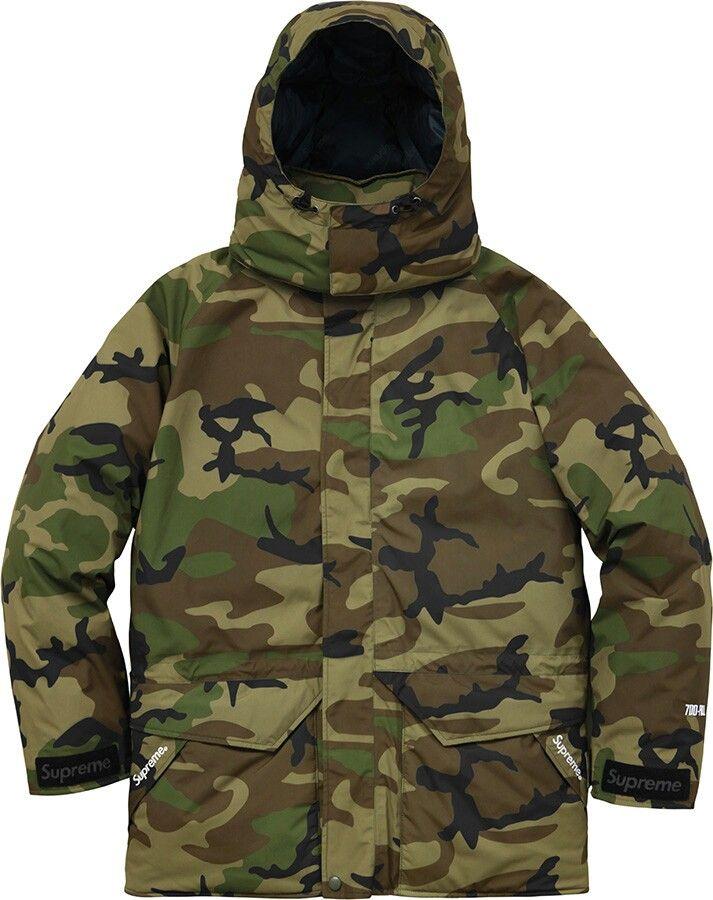 38772b23ed161 Army fatigue supreme fall / winter 2015 | mens fashion | Down parka ...