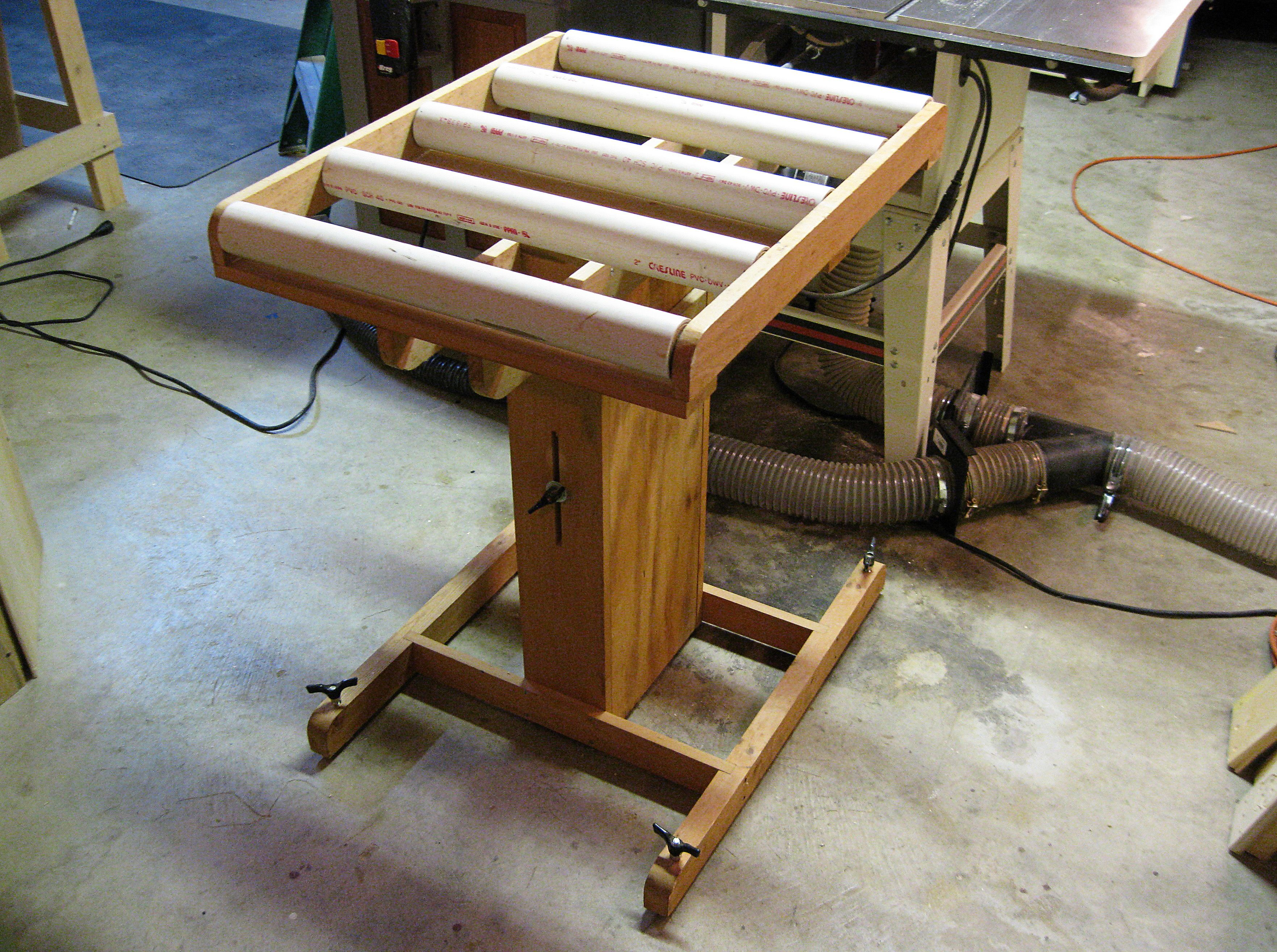My Table Saw Roller Stand Table saw, Woodworking shop