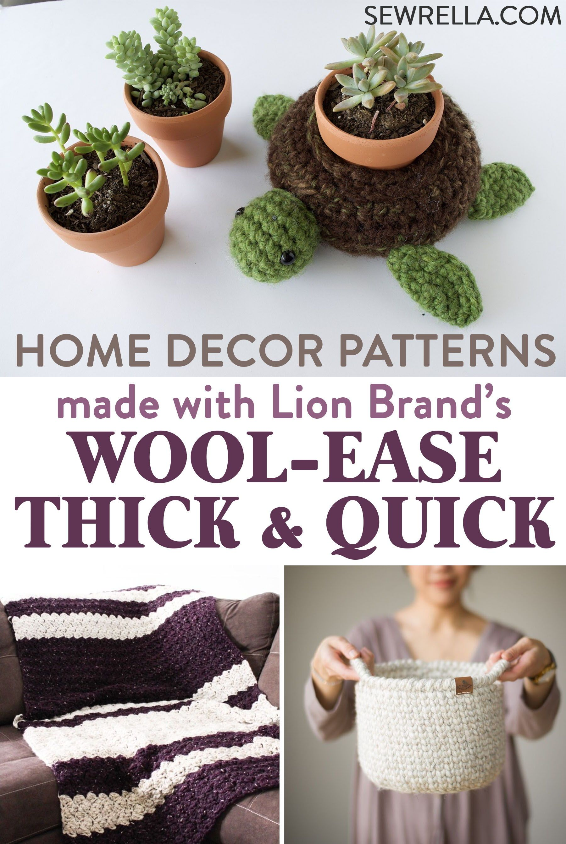 A Variety of Wool-Ease Thick & Quick Crochet and Knit Patterns ...