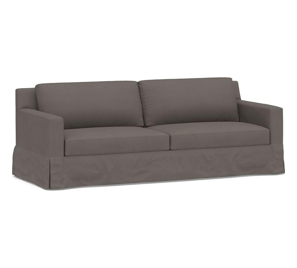 York Square Arm Slipcovered Sofa Furniture Slipcovers