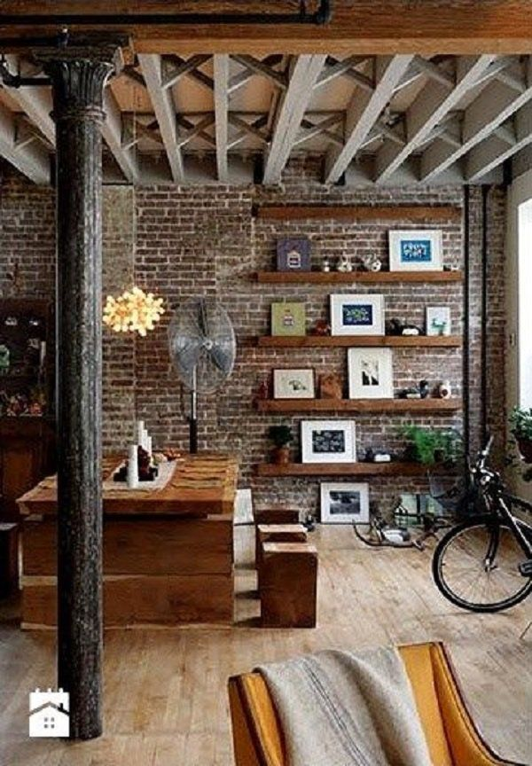 55 Brick Wall Interior Design Ideas Cuded Brick Interior Wall Rustic Apartment Loft Interiors Living room ideas exposed brick