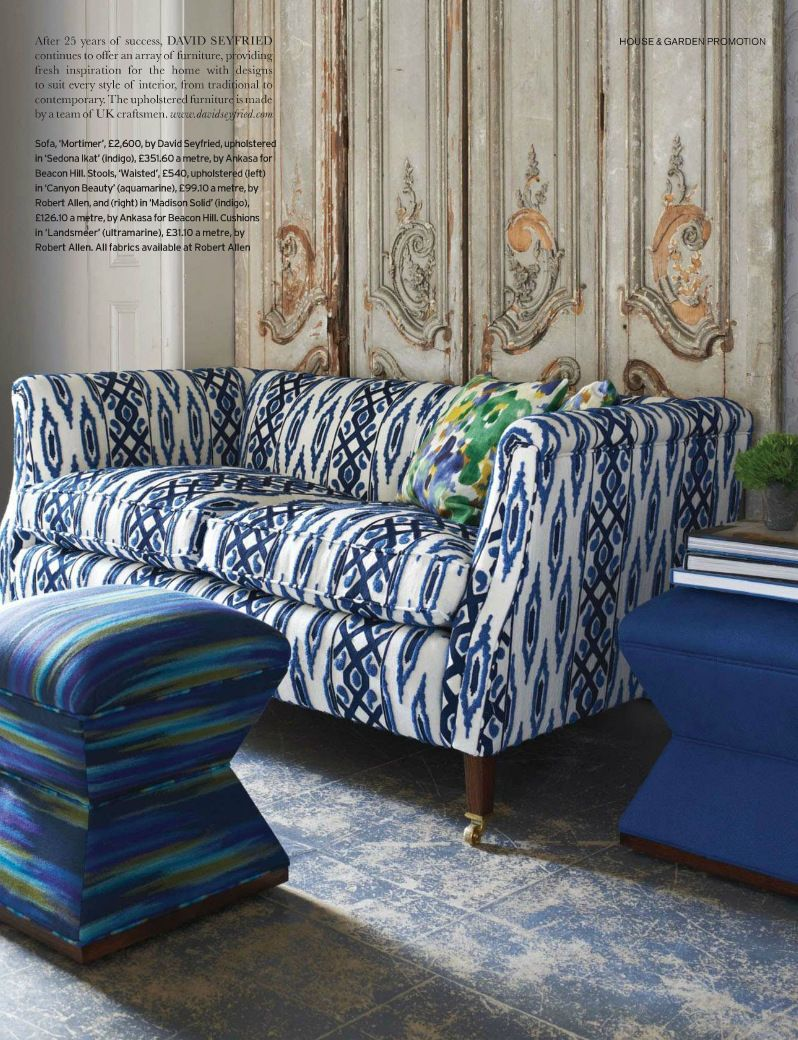 indigo blue and white is often see in fabrics that have a tribal