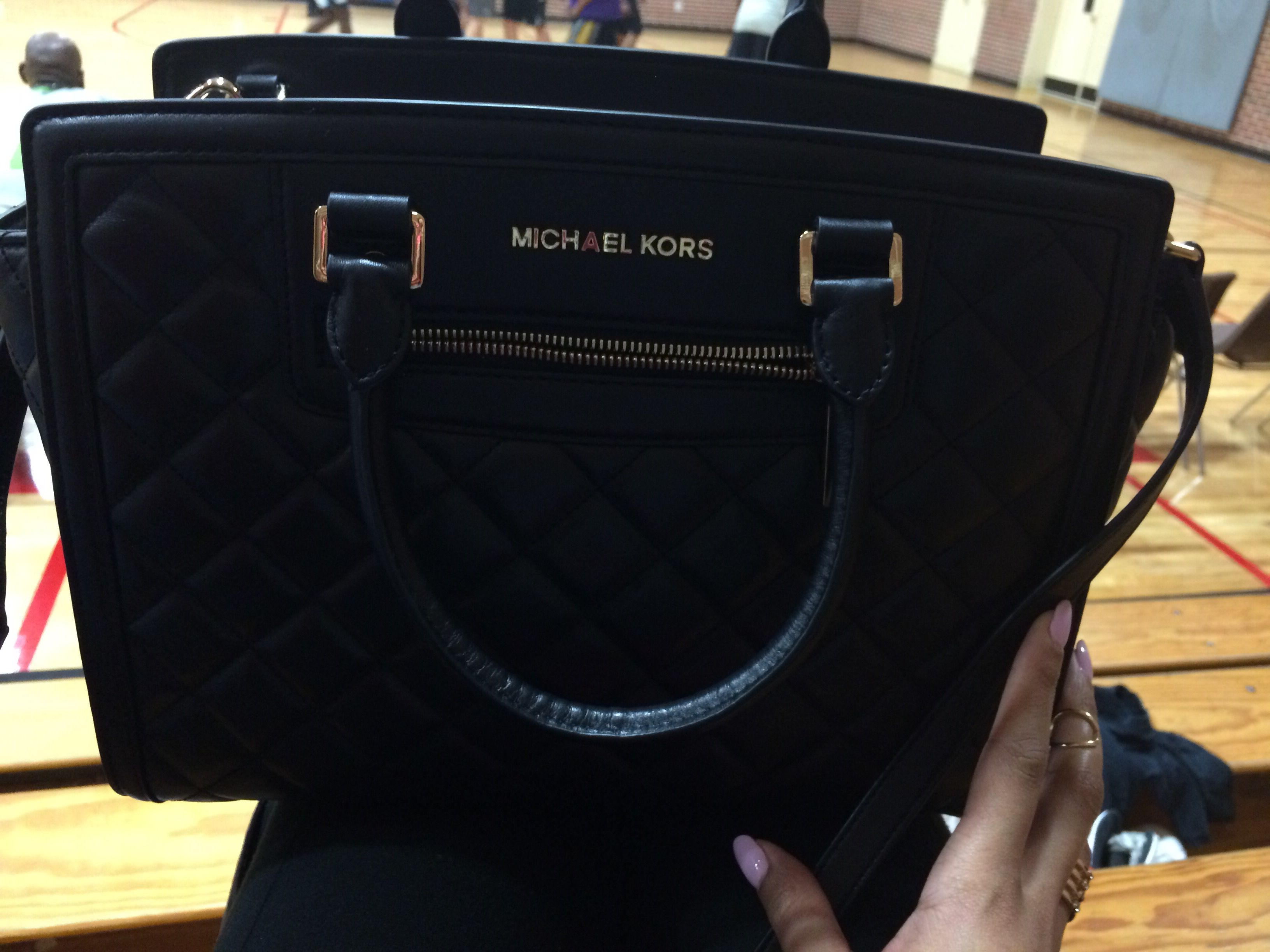 Quilted Kors, black and gold All mine