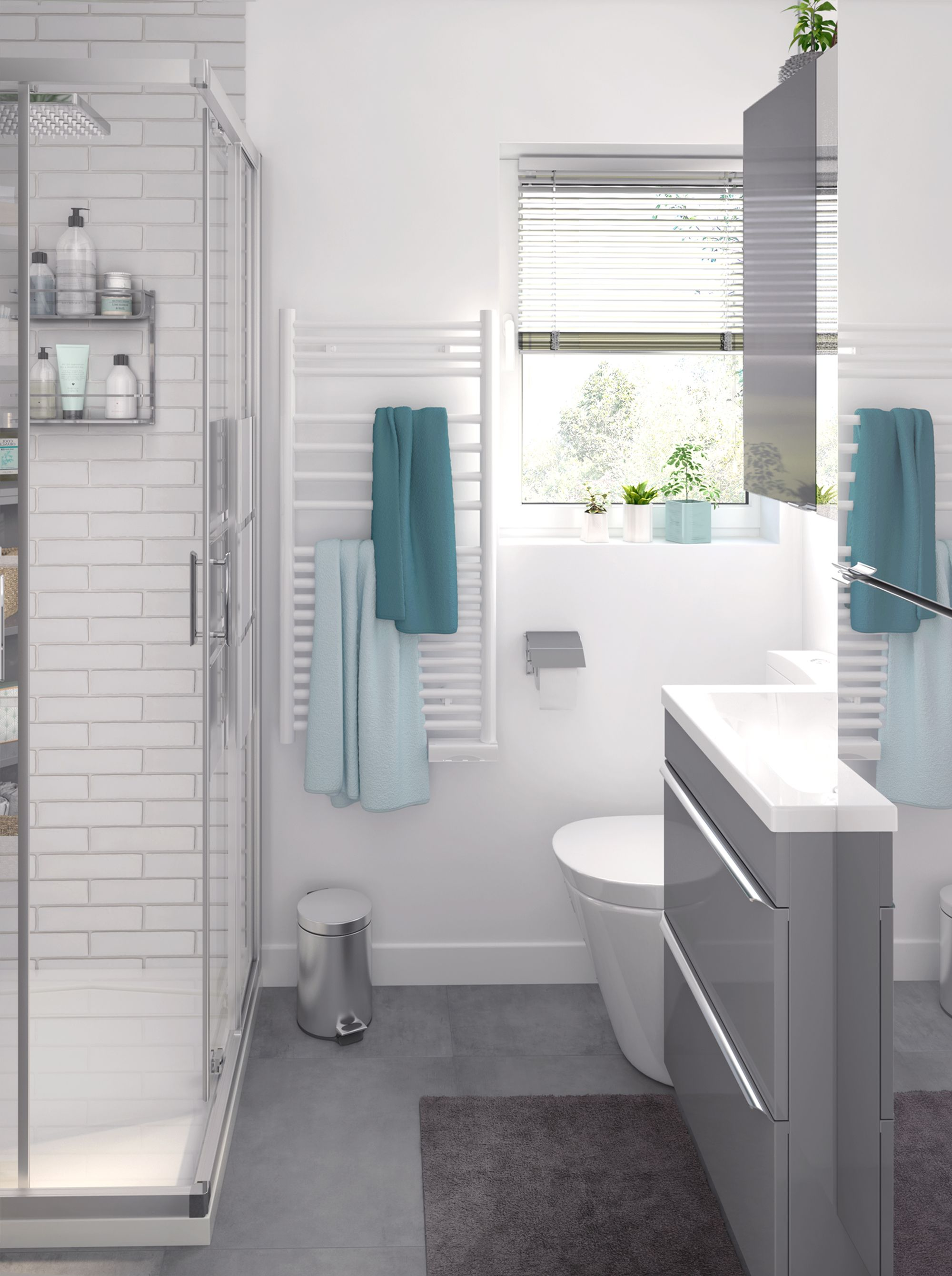 Grey Gloss Imandra Vanity &' Bathroom Range