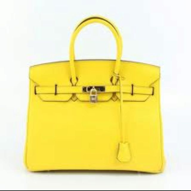 I so want this! Yellow Birkin Bag!