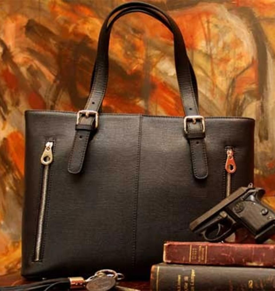 f1d5c7006cce Concealed Carry Purse - Smooth Leather Tote | GunHandbags.com | *My ...