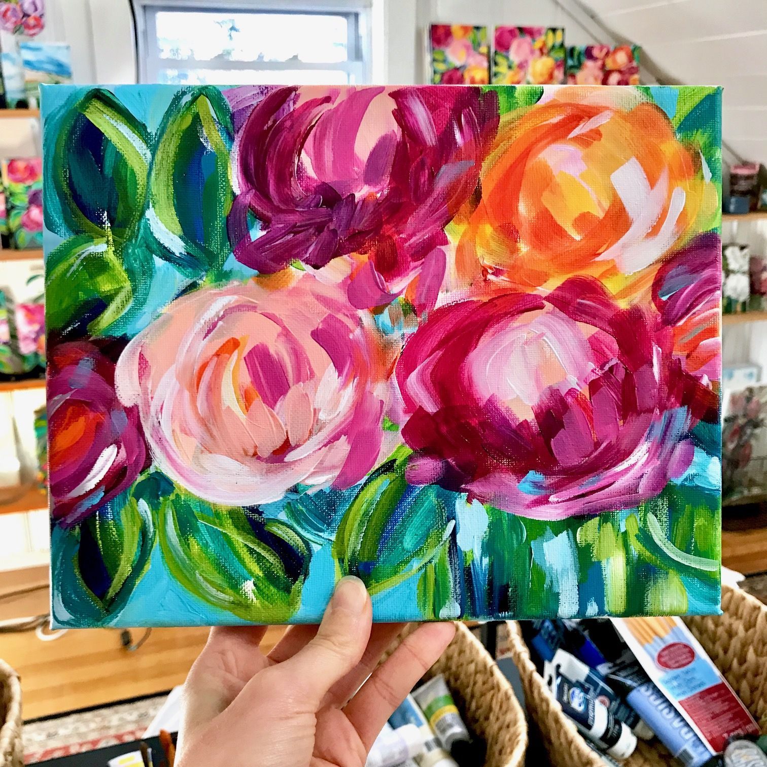 Easy Step By Step Flower Painting For Beginners Video Tutorial