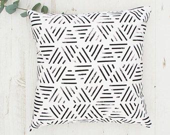 Geometric Cushion Home Decor Modern Throw Pillow Black White Decorative Pillow Black And W Geometric Cushions Modern Throw Pillows White Decorative Pillows