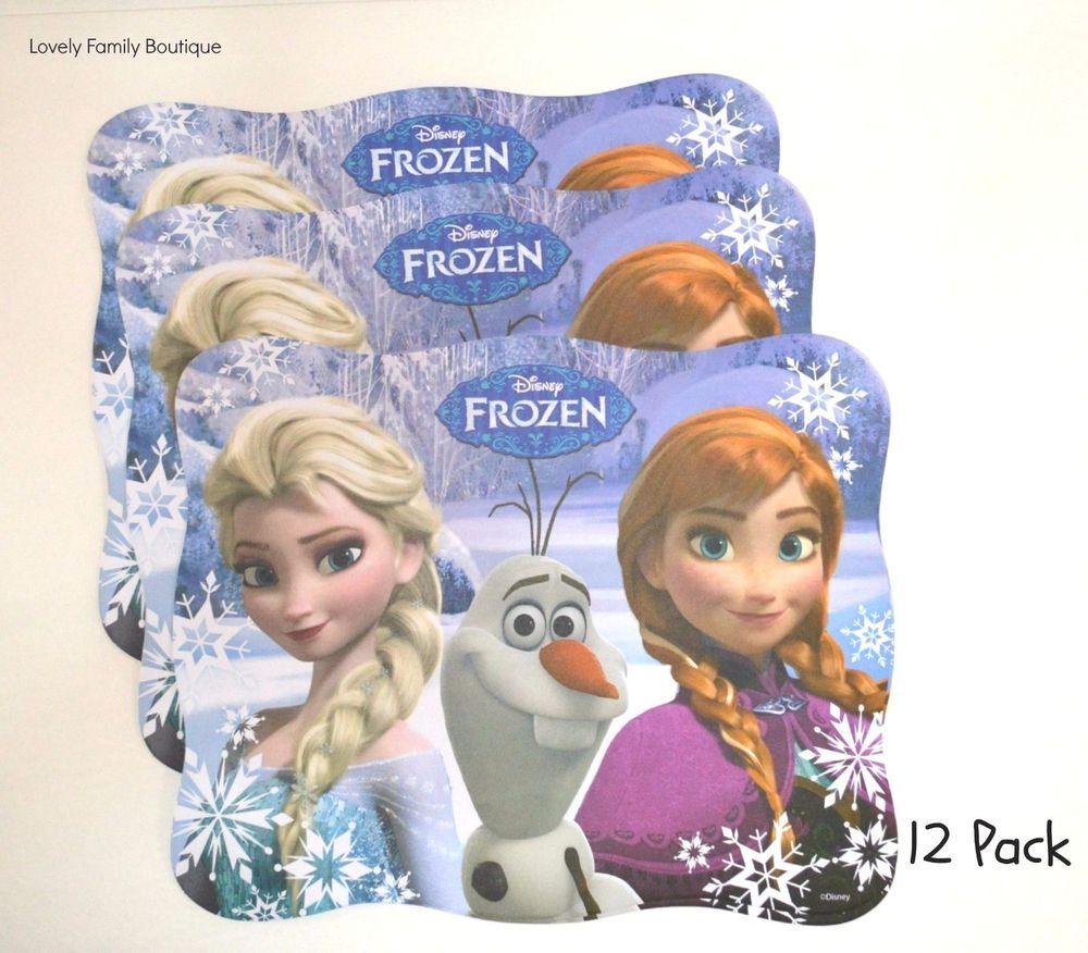 Disney Frozen Placement 12 Count Elsa Anna & Olaf