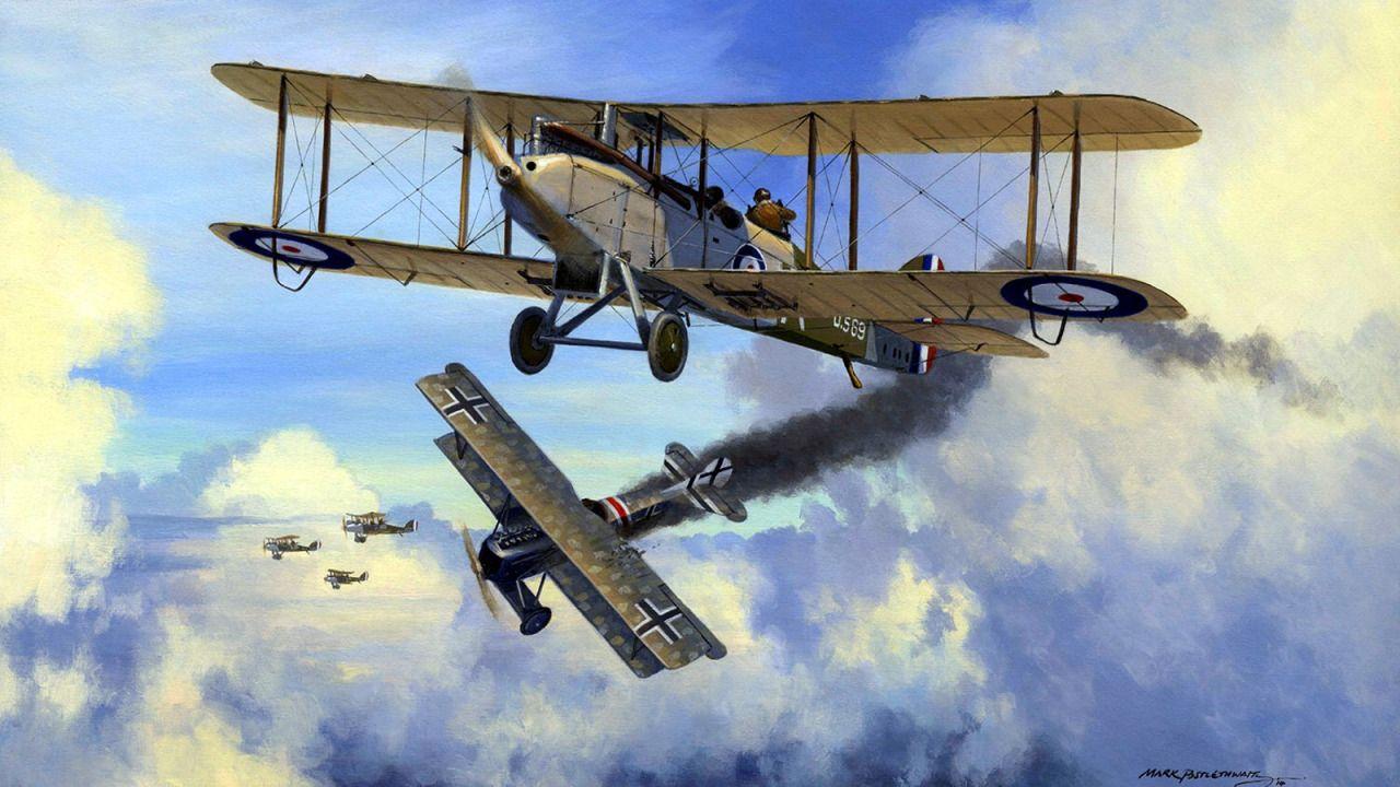 DH9 Two seater aces První světová válka, Válka, Světová