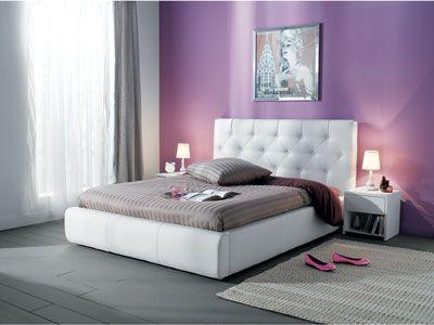Lit 140 X 190 Cm Roxana Coloris Blanc Code Article 505219 Meuble Lit 140 Conforama