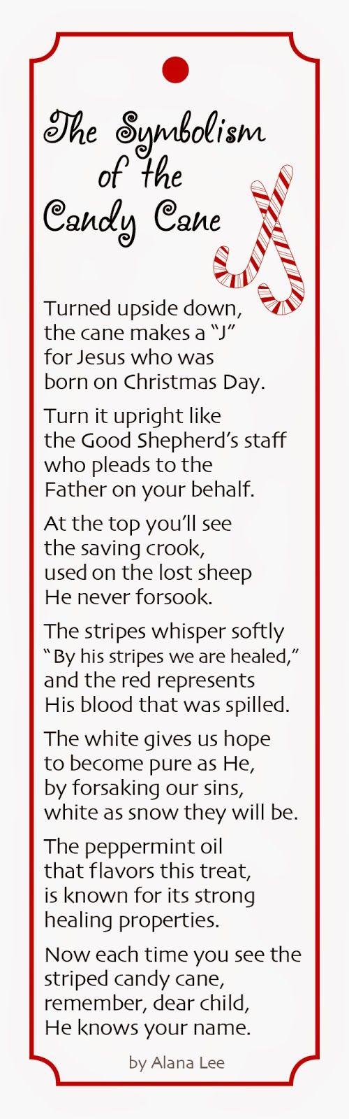 Symbolism of Candy Cane Poem Christmas poems, Free