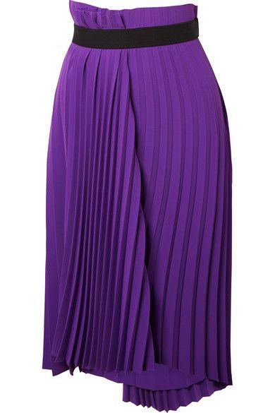 7b4d60059ccf Balenciaga / асимметричная плиссированная юбка-миди из крепа | NET-A ...