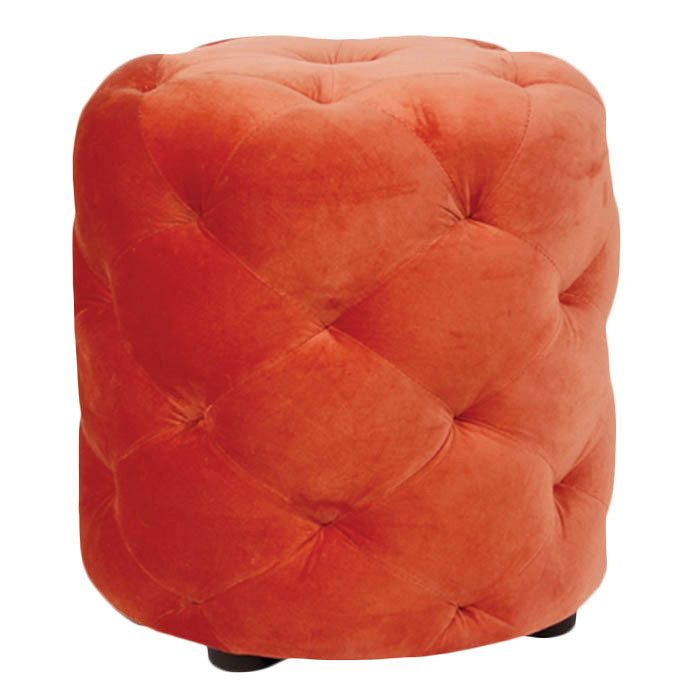 Orange Le Pouf Ottoman
