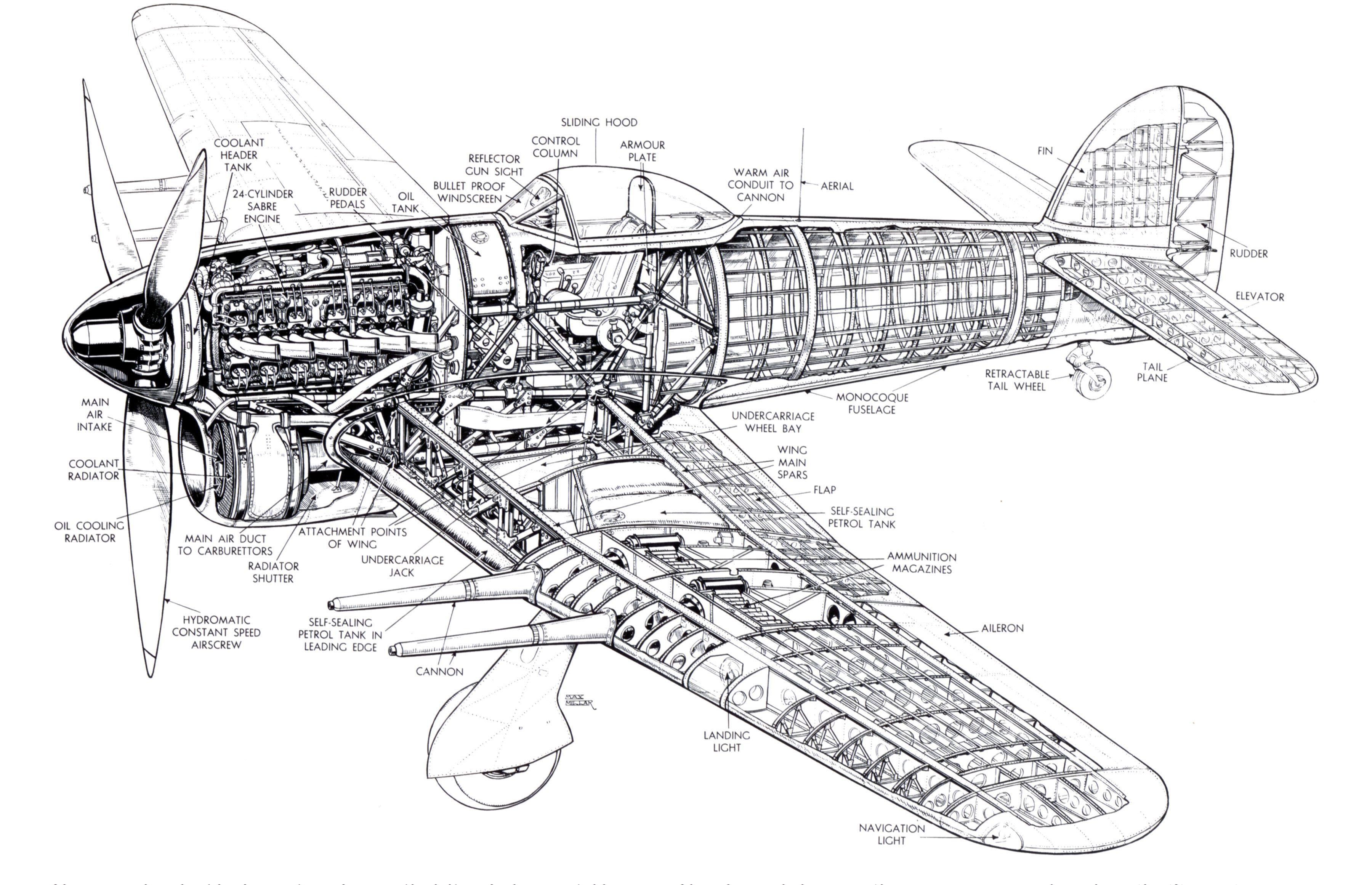 Hawker Typhoon Cutaway