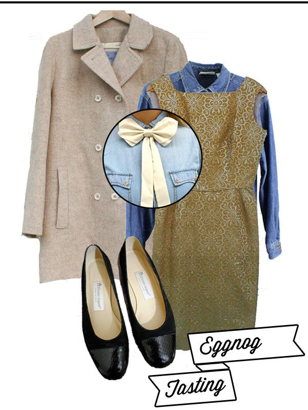 What to Wear to an...eggnog tasting, winter outfit idea