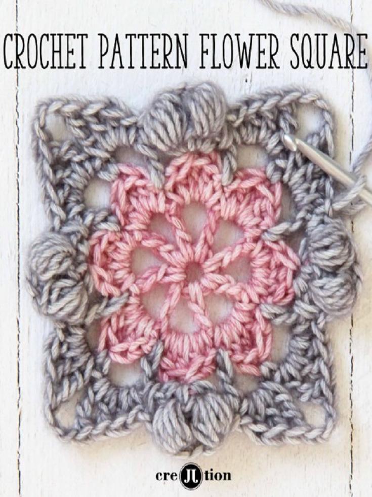 Flower Square Crochet Patterns | crochet flores | Pinterest | Puntos ...