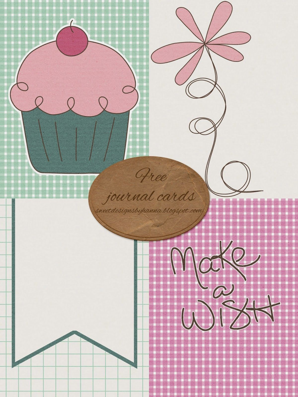 FREE Make a Wish - Journal Cards By Sweet Designs By Hanna