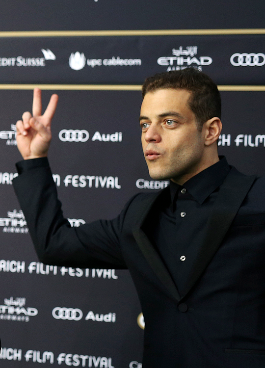 "ramimaleks: """"Rami Malek attending the 'Mr. Robot' premiere at the Zurich Film Festival (2015) "" """