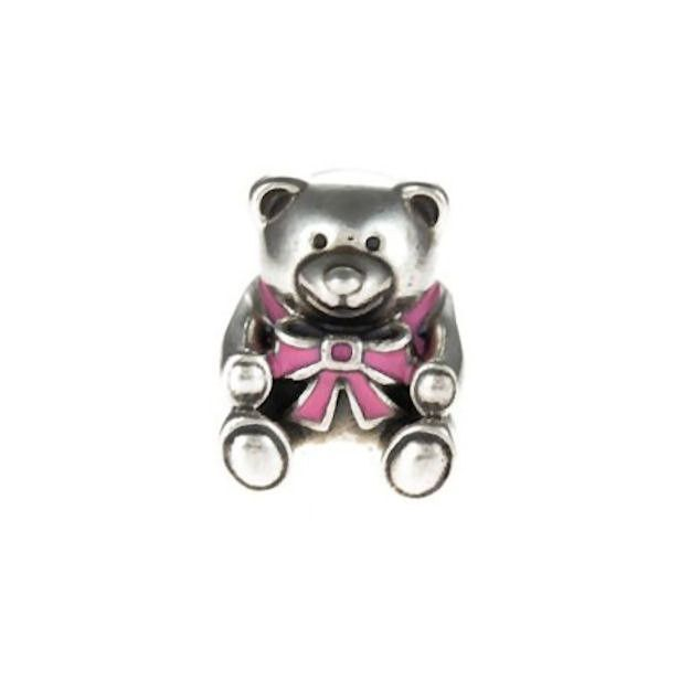 Authentic Pandora S925 Sterling Silver New Mom Its a Girl Bear Charm Bead w/ Box Free Shipping Worldwide Gift Bridal Weddings Brides Jewelry