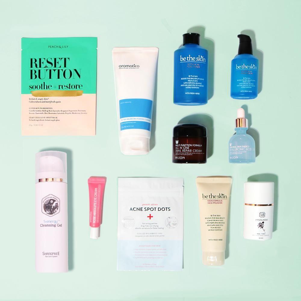 Korean Regimen Kit Step By Step Oily Acne Prone Best Skin Care Routine Daily Skin Care Routine