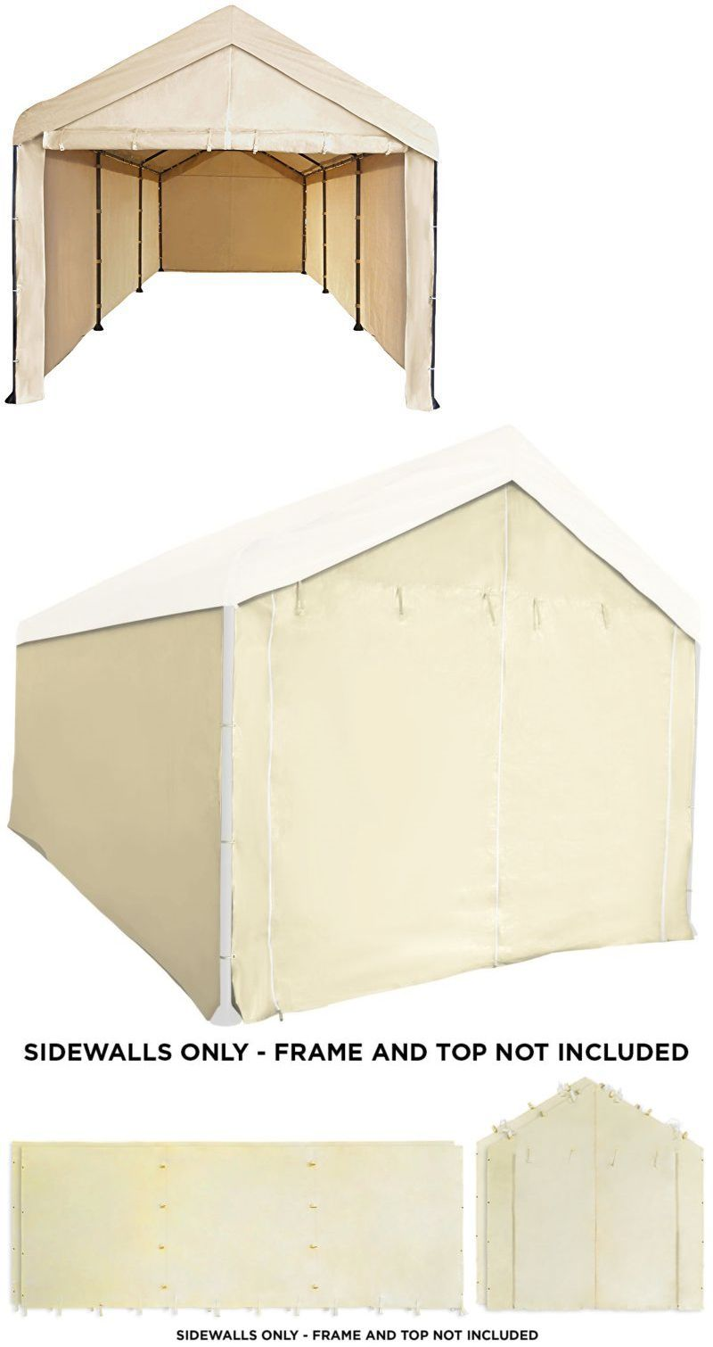 Awnings and Canopies 180992: Sidewall Canopy Garage 10X20 Carport ...