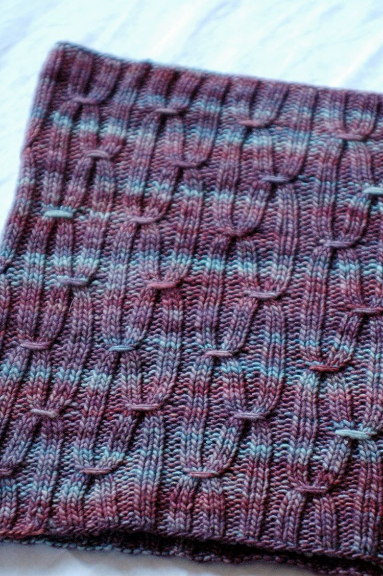 knit smocked cowl | crafts | Pinterest | Tejido