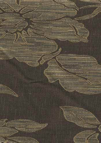 Drapery Fabrics Floral Fabrics Stria Flowers Brown Onyx Upholstery Fabric With Images Upholstery Fabric