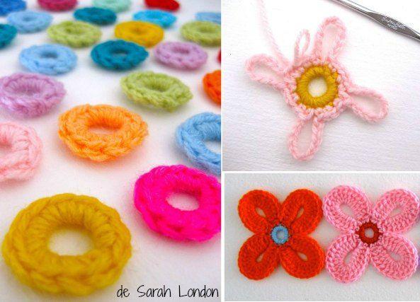 Como tejer flores de crochet hawaianas | Crochet paso a paso ...