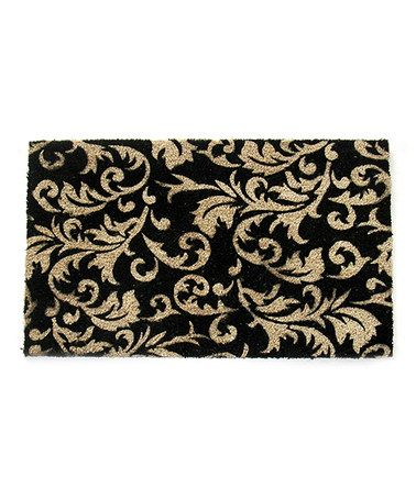 Look what I found on #zulily! Gold Scrolling Leaves Doormat #zulilyfinds