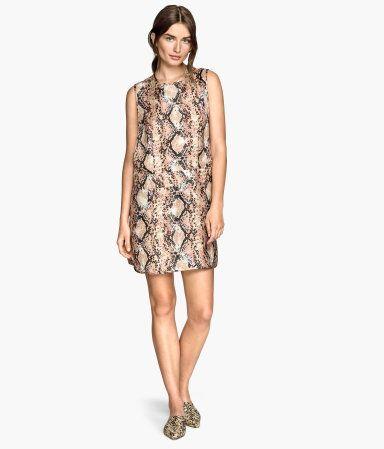 H&M Patterned Silk Dress $30 | Fashion jewerly, Silk dress ...
