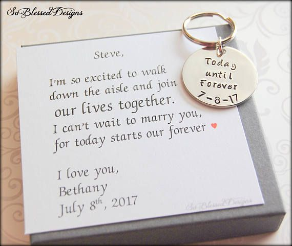 Personalized Groom Gift From Bride Custom Wedding Date Our Wedding