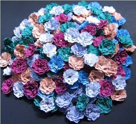 Weddings Handmade Paper Flowers in the Colors of Your Choice