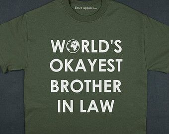 Worlds Okayest Brother In Law Christmas Gift Tshirt Crew Neck Man Red S To 2XL Funny World Men Birthday A3MGR