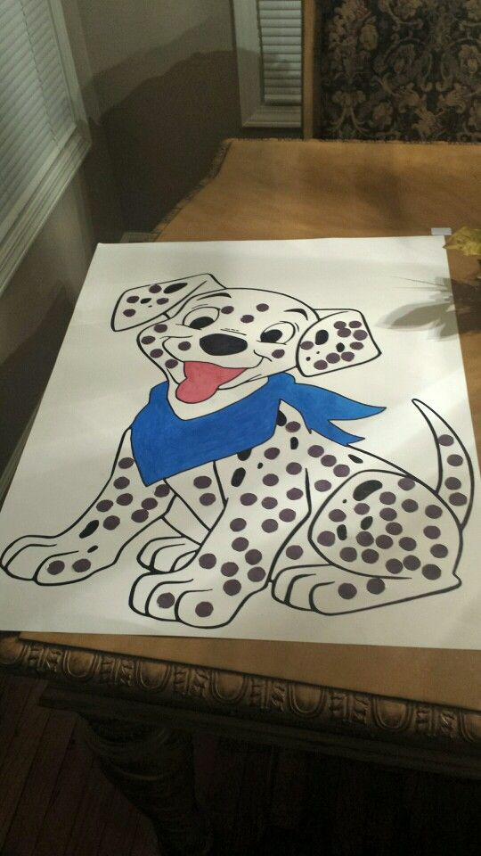100th day project dalmatian puppy with 100 spots.
