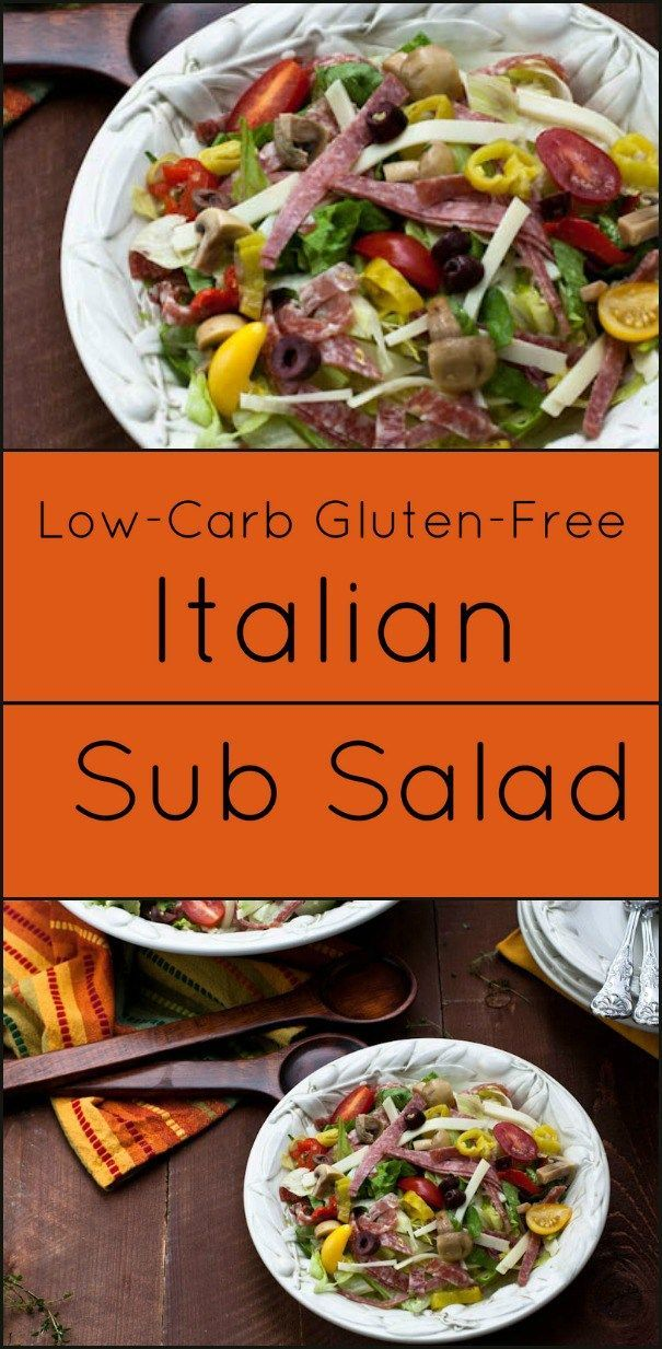 Italian Sub Salad Is Low Carb And Gluten Free All The Flavor And
