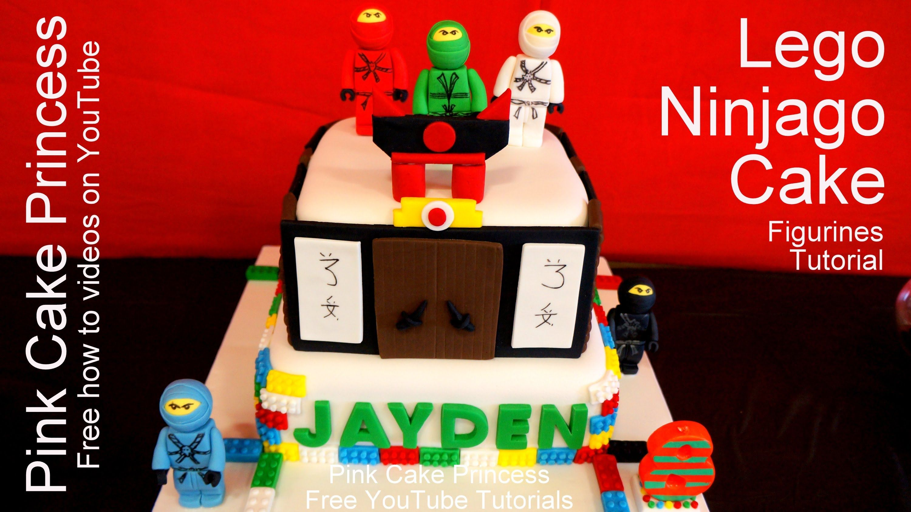 How To Make The Lego Movie Ninjago Cake Topper Figurines Youtube Tutorial